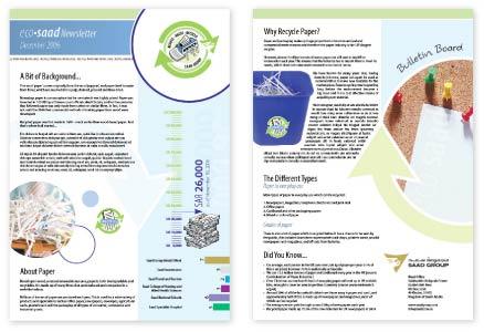 internal newsletter design