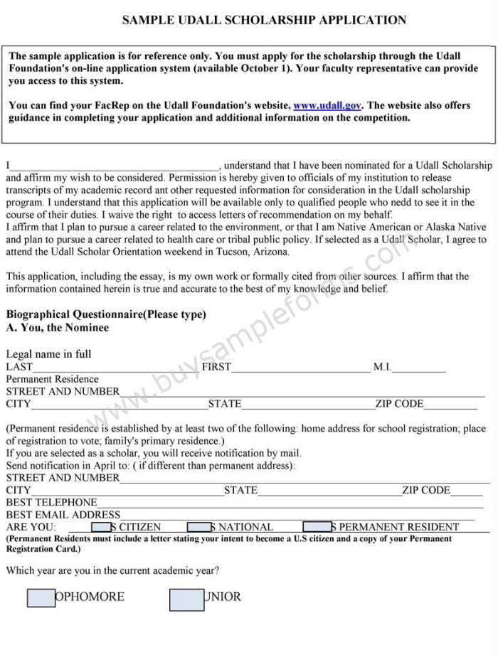 Scholarship Application Form Template by Jasmine Everett at Coroflot