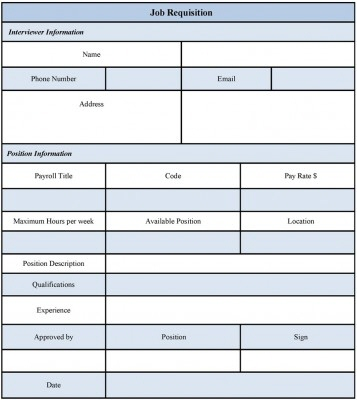 Job Requisition Form Examples by Jasmine Everett at Coroflot - requisition form in pdf