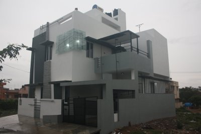 House Designs Bangalore - Front Elevation by Ashwin ...