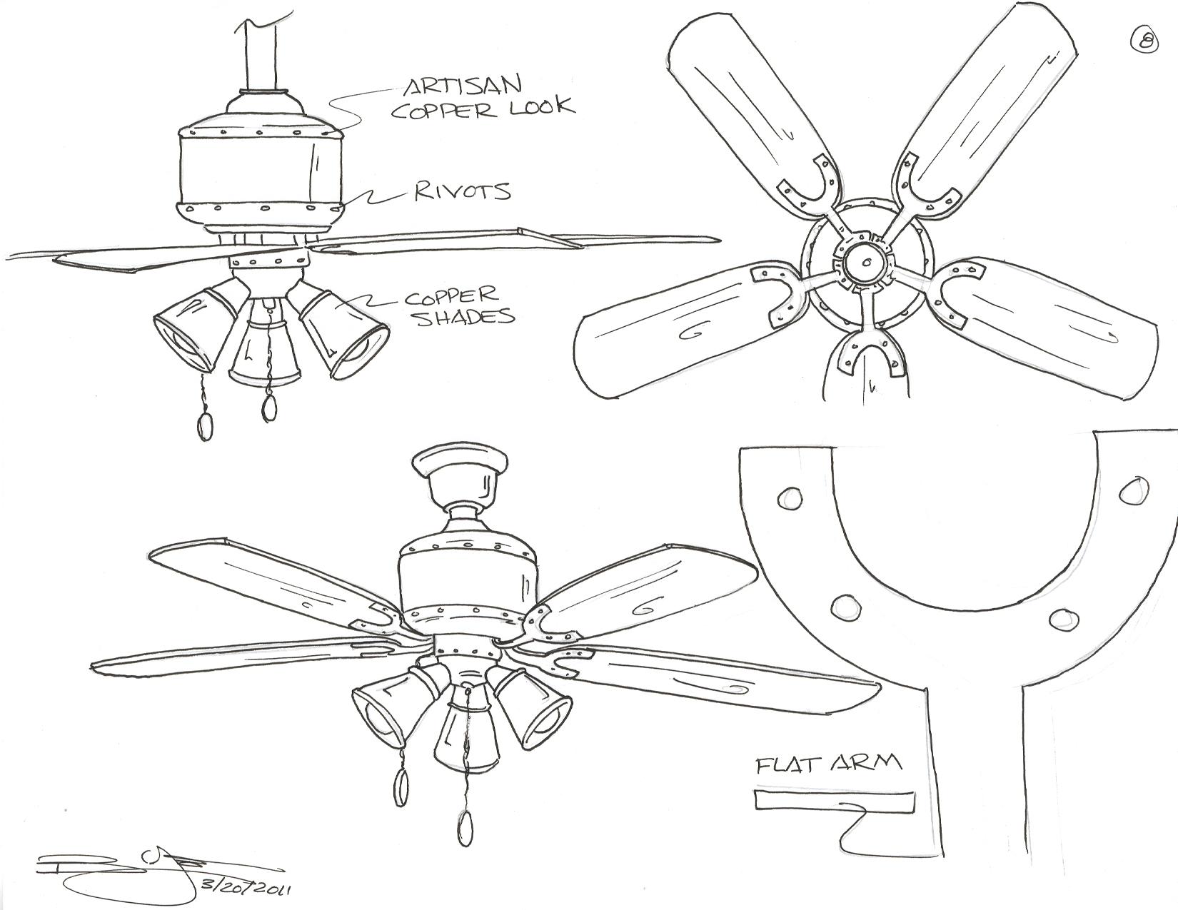 Ceiling Fan Sketch