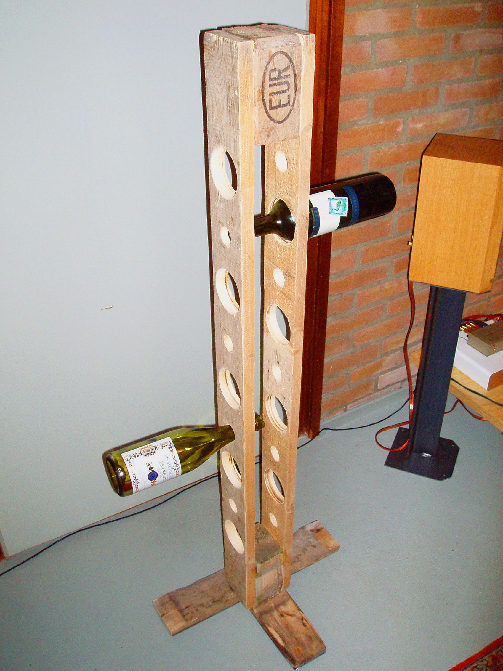 Vertical Wine Cabinet Pallet Wine Rack By David Ross At Coroflot