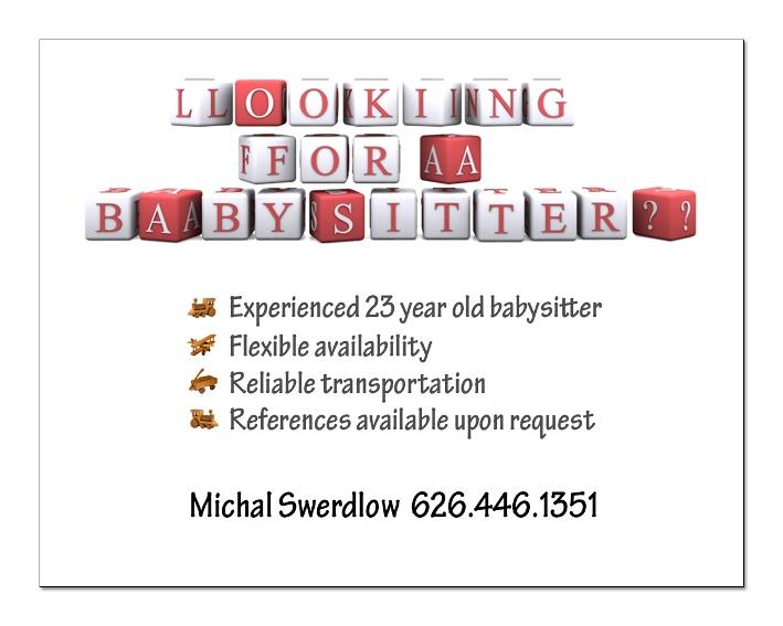 babysitting ads ideas - Akbagreenw