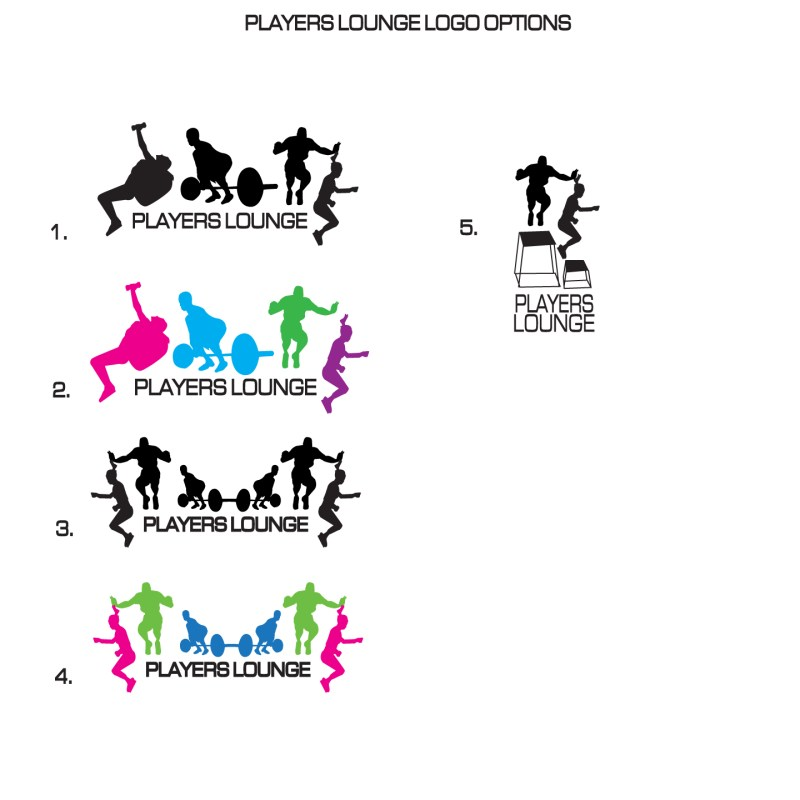 Fitness Logos Inspiration Players Lounge Logo Options