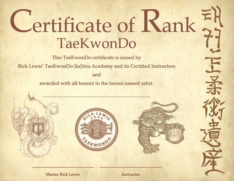 Taekwondo Certificate Templates Image collections - creative