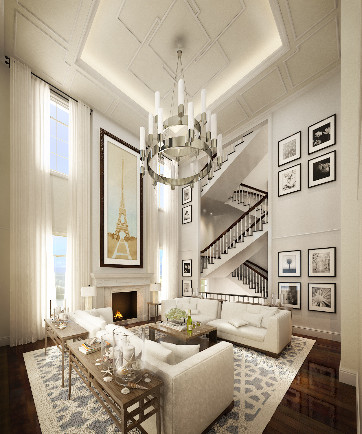 High Ceiling Living Room Ideas Hampton Style Living Rm By Neil Aldrin Santander At