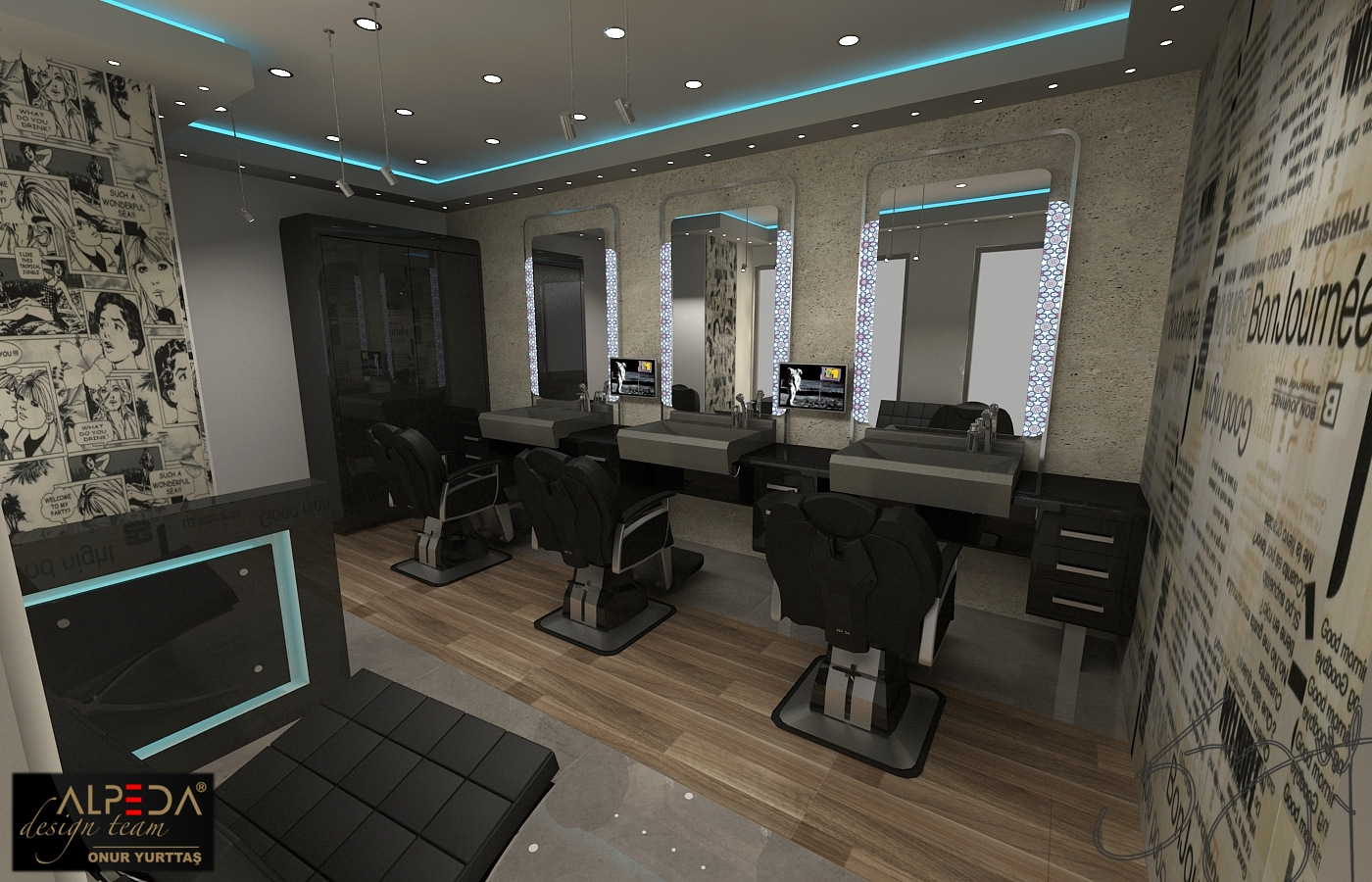 Salon Architecture Coiffure Salon Design By Onur Yurttas At Coroflot