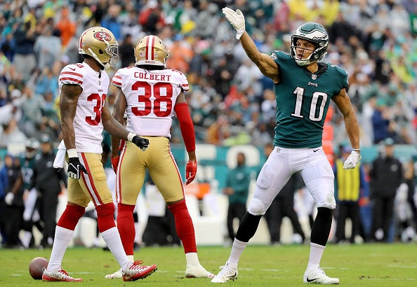 Eagles depth chart at wide receiver after latest signings