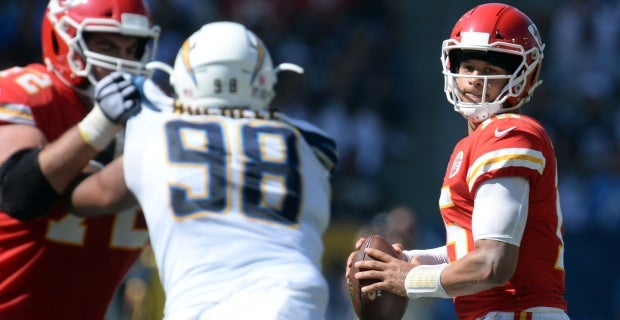 Kansas City Chiefs vs Los Angeles Chargers Projected starters