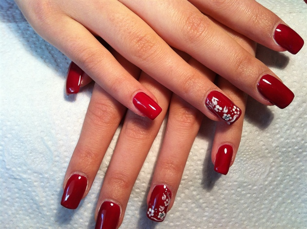 Classic Red Nail Art Gallery