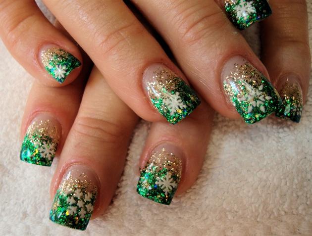 Christmas Glitter Gels Nail Art Gallery
