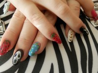 Gelish with various designs - Nail Art Gallery