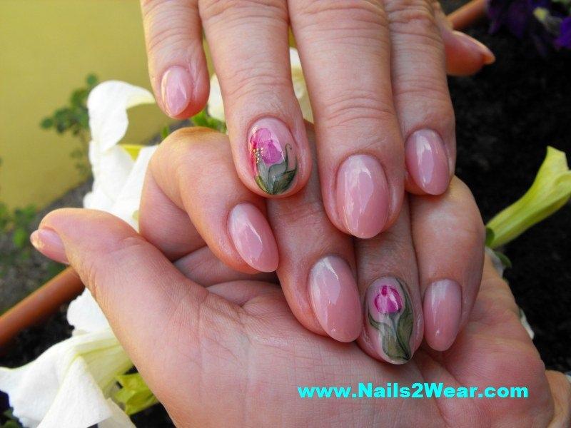Natural Looking Almond Shaped Nails Nail Art Gallery