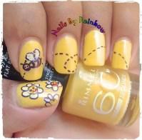 honey bee nails - Nail Art Gallery