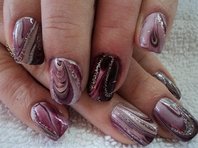 Water Marble Nail Art Gallery