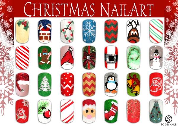 Multiple Christmas Nail Art Designs Nail Art Gallery