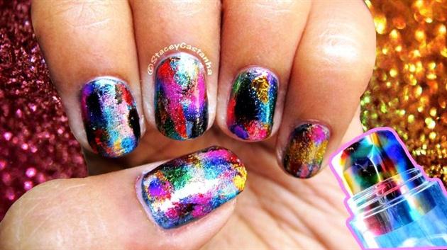Glitter Foil Nails Nail Art Gallery