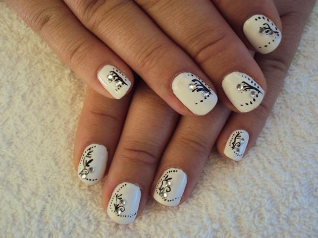Simple Hand Painted Nail Art Designs Arte De Unas
