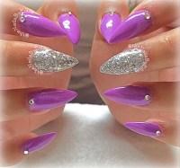 Light Purple Nails With Glitter | www.pixshark.com ...