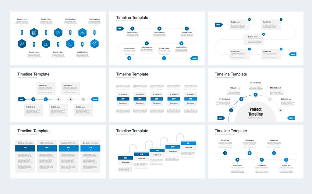 Timeline Pack for Keynote Template #68885