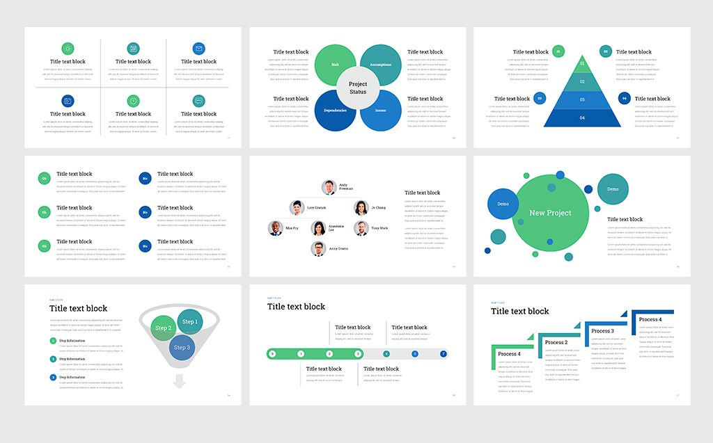 Project Status - Professional PowerPoint Template #68531 - professional powerpoint