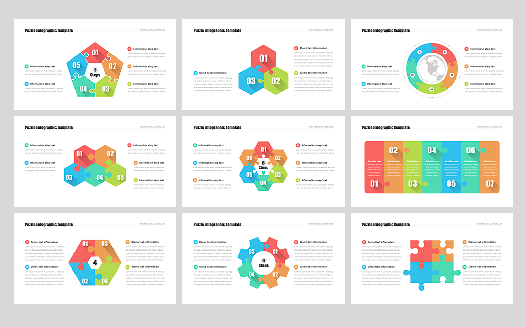 Puzzle PowerPoint Template #77880