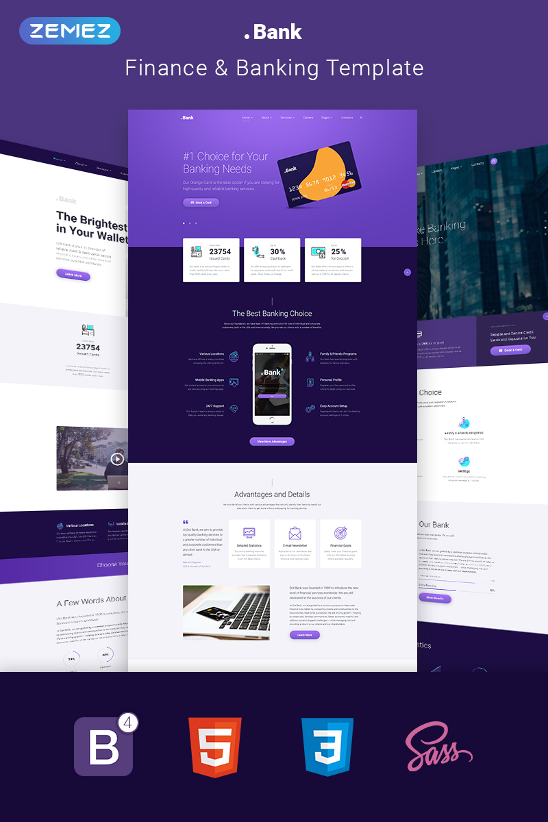 Freeware Banking Software Banking Financial Multipage Html5 Template
