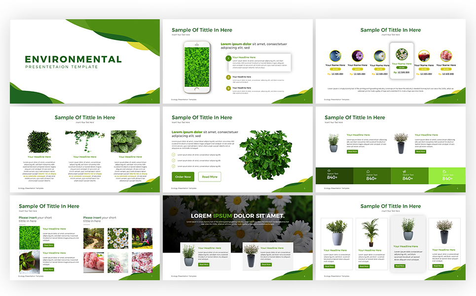 Ecology Presentation PowerPoint Template #69531
