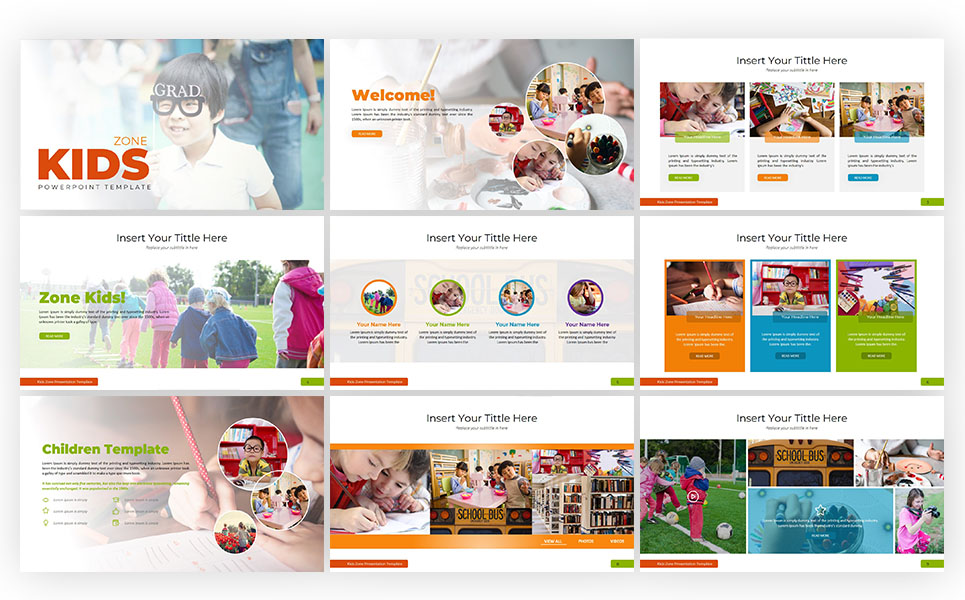 Children PowerPoint Template #70604
