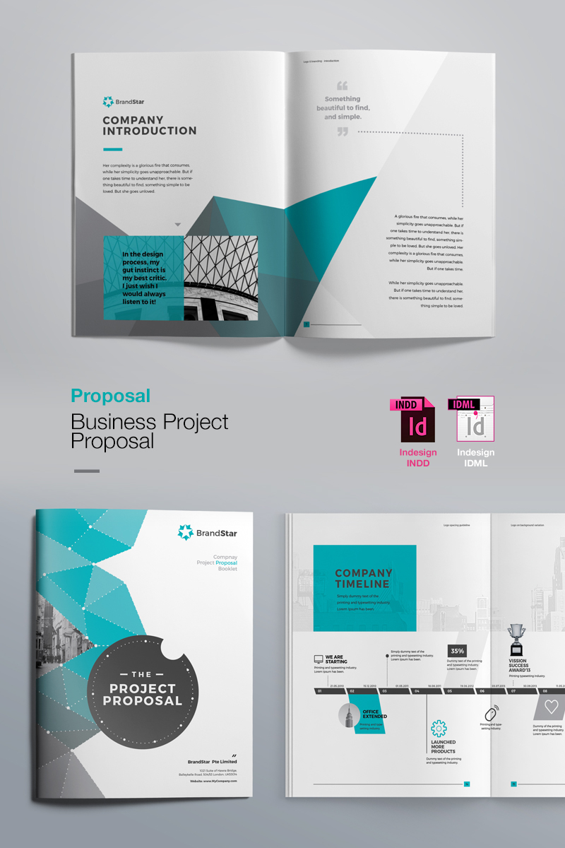 Corporate Graphic Design Business Proposal Corporate Identity Template 74213