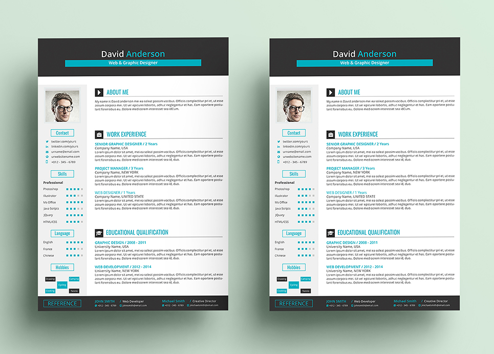 David Anderson - Ms Word Format Web  Graphic Designer Resume