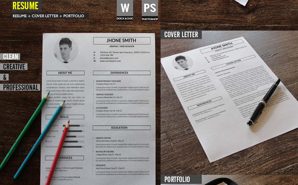 Graphic / Web Designer Resume Template #67860 - web designer resume template