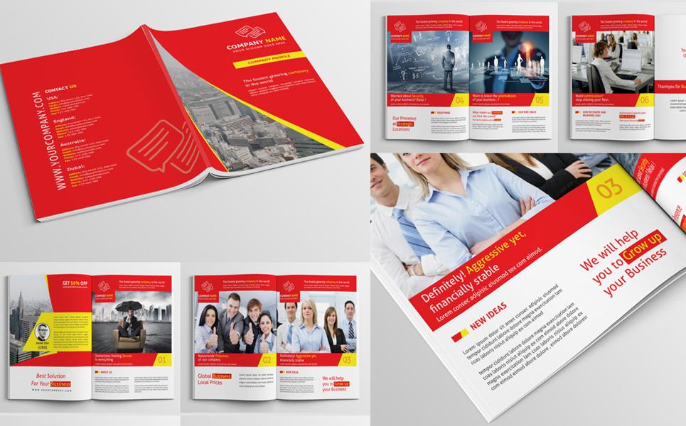 Company Profile PSD Corporate Identity Template #68137 - profile company template