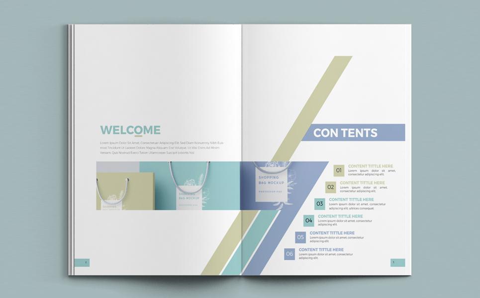 Minimal Brand Manual - InDesign Corporate Identity Template #68767