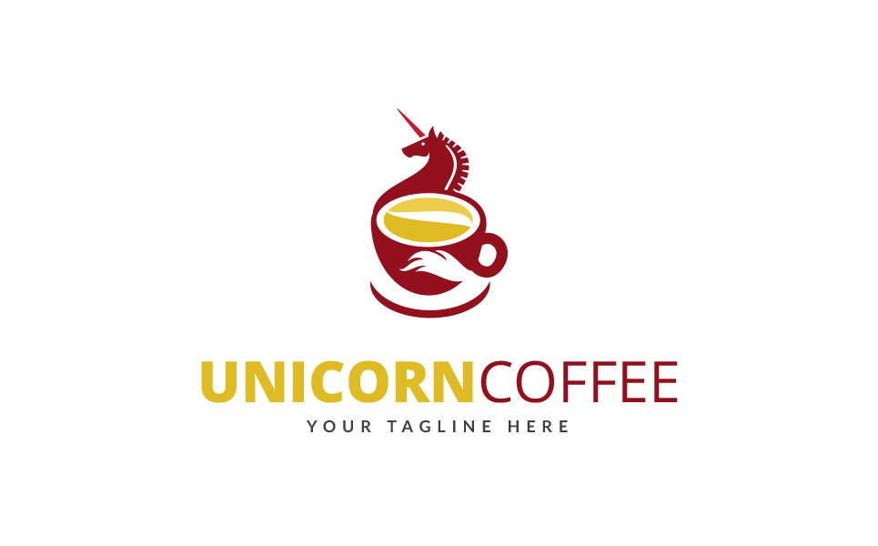 Unicorn Coffee Logo Template #69346 - unicorn template