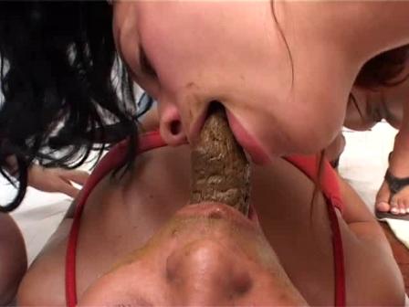 lesbian shit eating slave