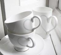 heart tea cups, tea cups wallpaper, white tea cups - image ...