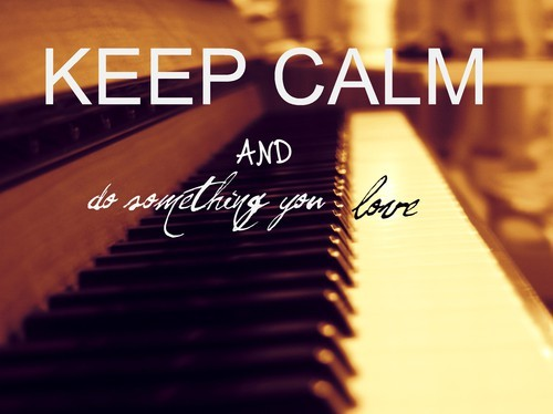 Girl Drawing Wallpaper For Iphone Keep Calm Love Music Play Piano Sepia Image 456653