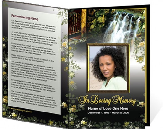 Memorial Service Program Template – Free Memorial Program Templates