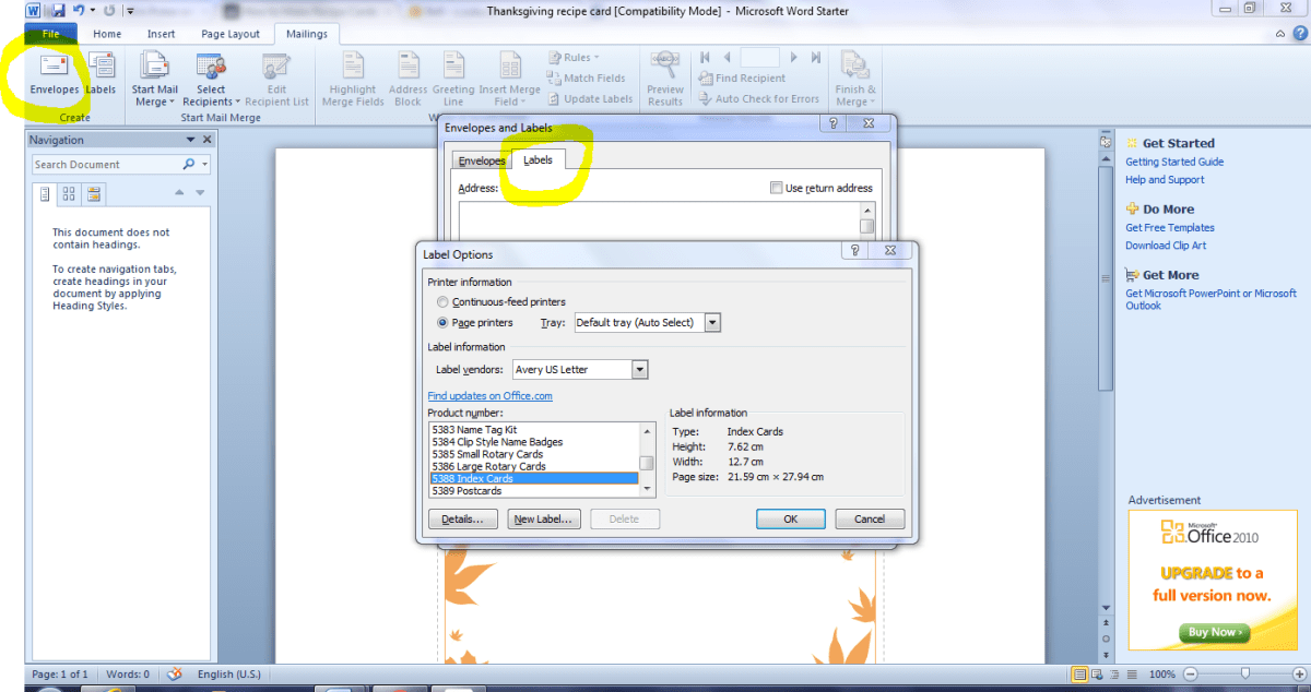 Doc#600400 Free Recipe Card Template for Word u2013 17 Recipe Card - free recipe card templates for microsoft word