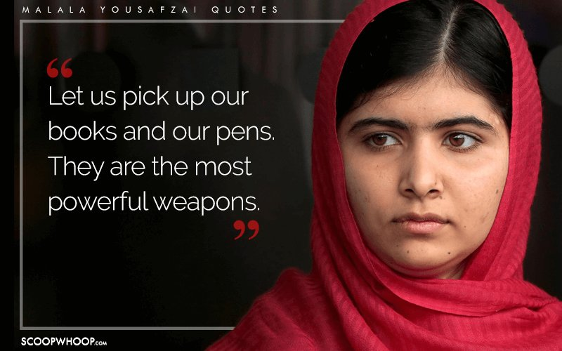 Create Your Own Quote Wallpaper Free 15 Quotes By Malala Yousafzai That Show How The Pen Holds