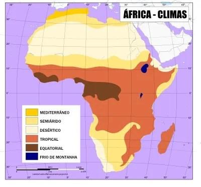 Aspectos Naturais da África \u2013 Clima e Vegetação - Brasil Escola