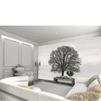 Silhouette Black and Grey Tree Wall Mural Homeware ...