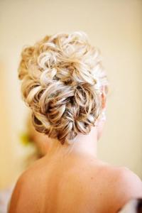 Updo Hair Model - Wedding Wavy Updo Hairstyle #891115 ...