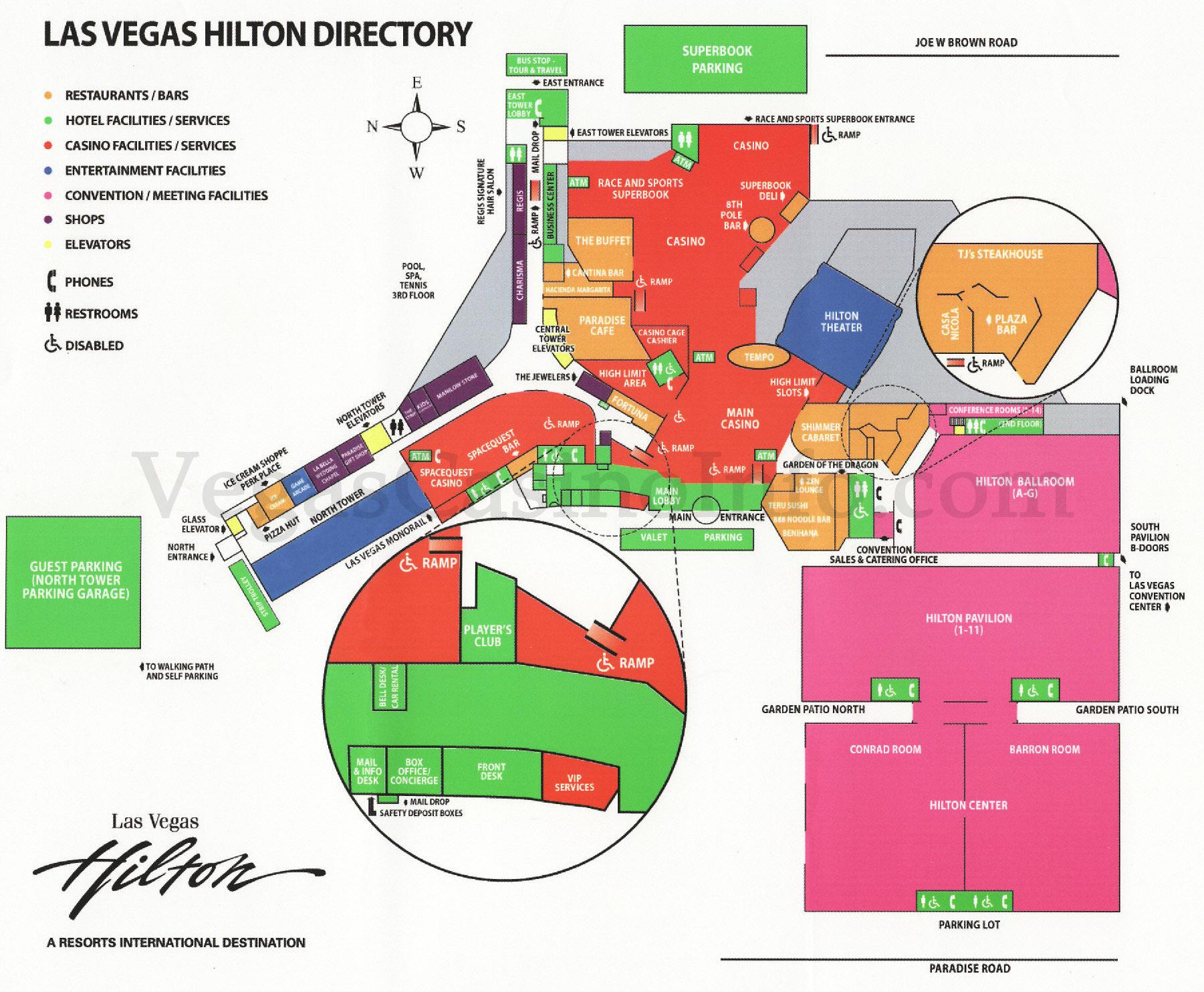 vegas casino floor plans