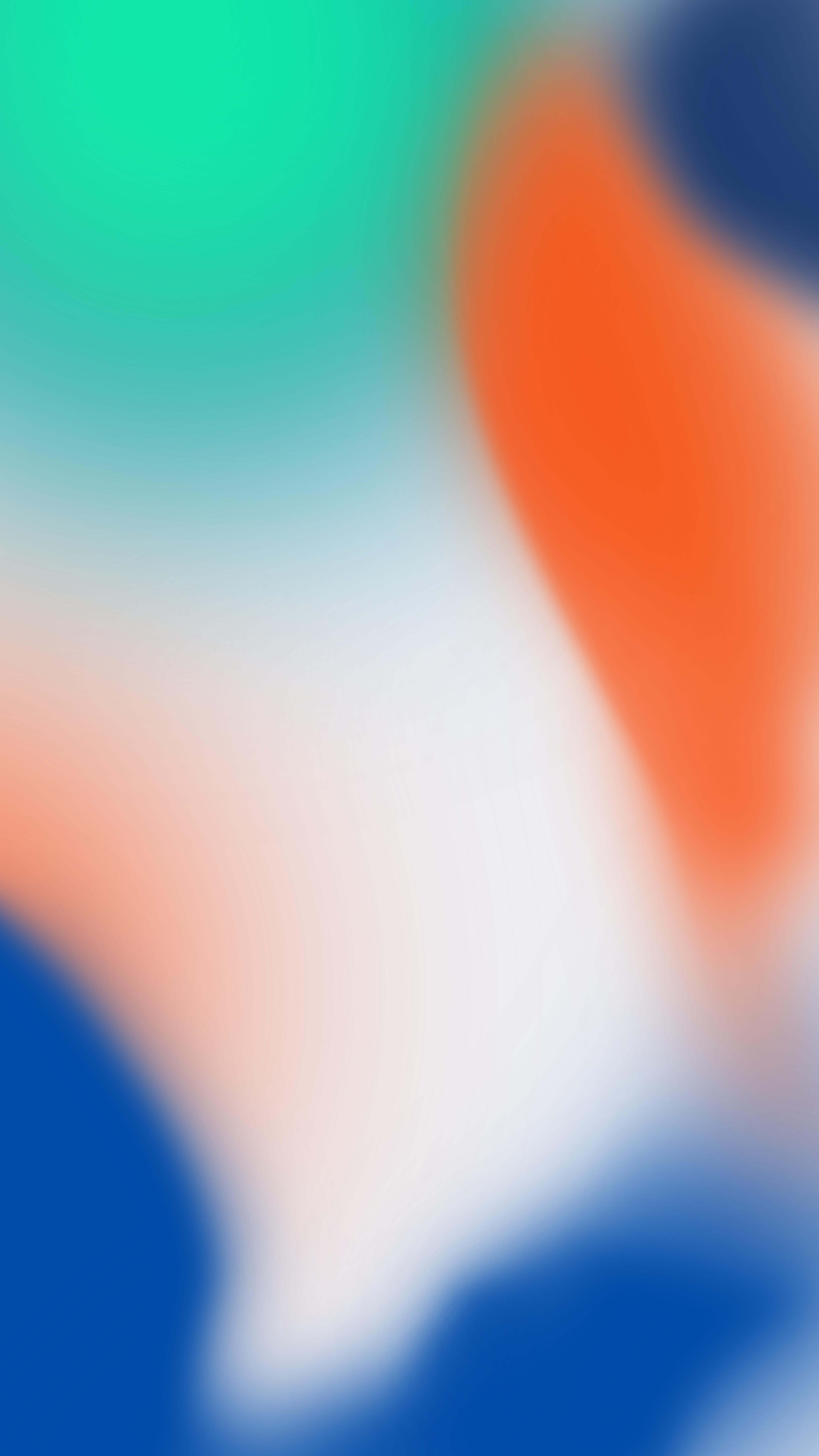 Wallpaper App For Iphone X Iphone X Wallpaper Green Orange Blue Mactrast