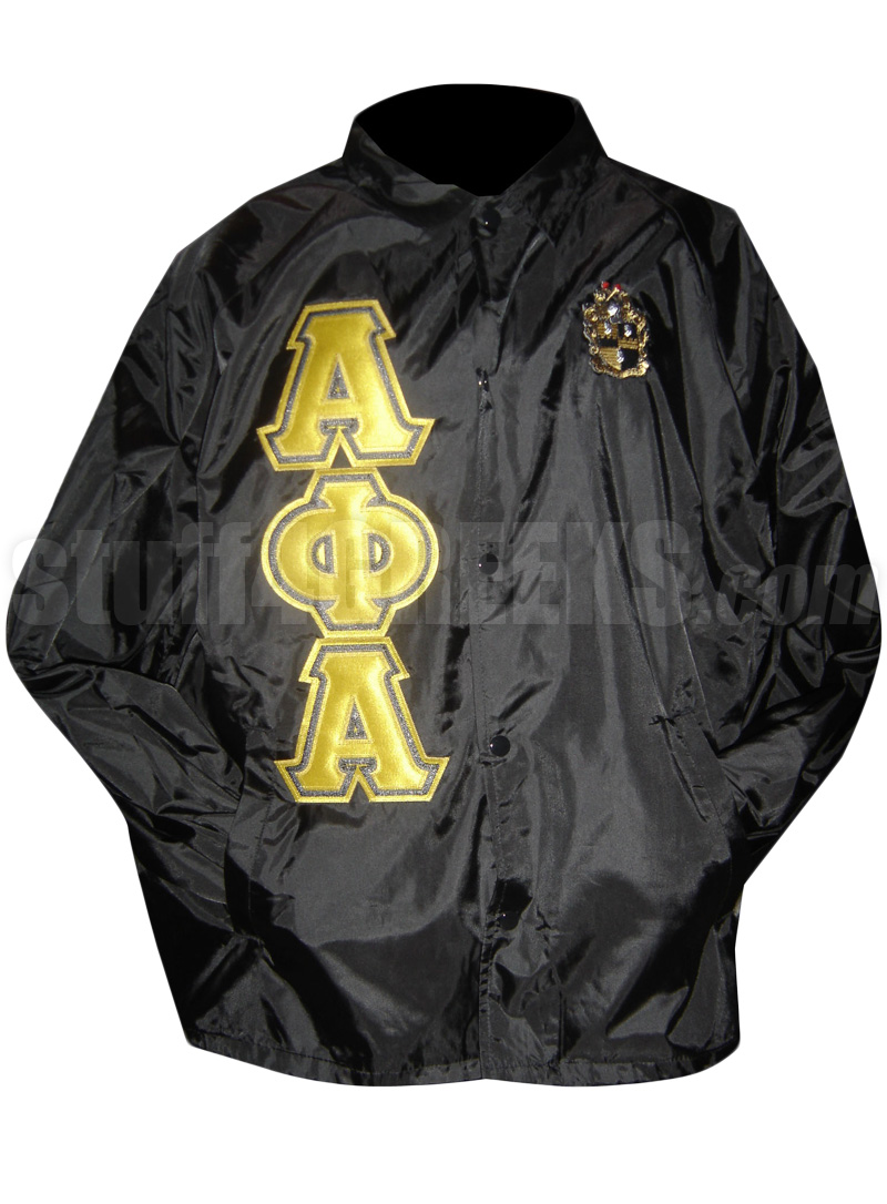 Black Friday Shop Alpha Phi Alpha Line Jacket With Triple Greek Letters And