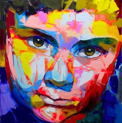 Indian Local Beautiful Girl Wallpaper Knife Painting Portraits Artwork By Francoise Nielly