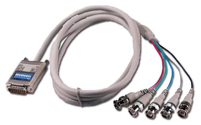 CC2265-06 - 6ft RGB 5BNC Male to Macintosh DB15 Male Adaptor Cable