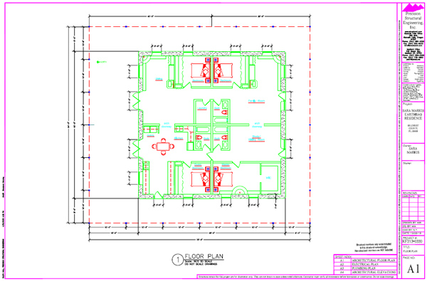 Free Sample House Plan by Precision Structural Engineering Natural
